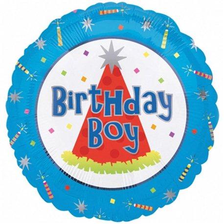 Balon Folie Birthday Boy, Amscan, 45 cm,10076