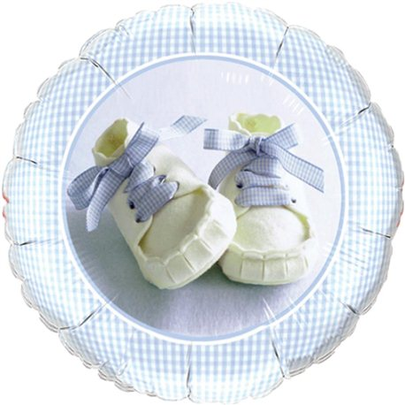 Balon Folie Baby Boy Shoes, Qualatex, 45 cm, 81835