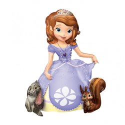 Balon Folie Air-Walker Sofia The First, 93x121 cm, 28317