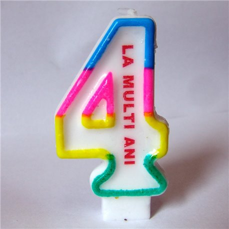Number 4 Birthday Cake Candle Radar SMFITLMA4 1 Piece