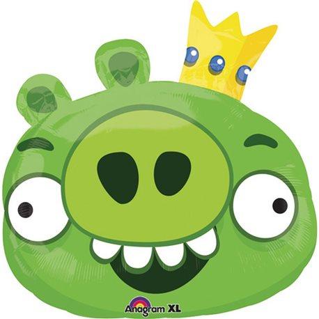 Balon Folie Figurina King Pig Angry Birds, 56x58 cm, 24811