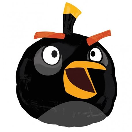 Balon Folie Figurina Black Angry Birds, 25466