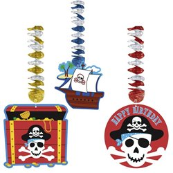 Serpentine decorative pentru petrecere cu Pirati, Amscan A138221, Set 3 buc