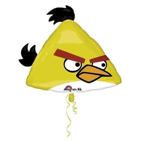 Large Yellow Angry Birds Balloon, 58x23 cm, 25028