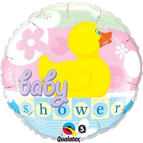 "Baby Shower Rubber Ducky  Foil Balloon, Qualatex, 18"", 11790"