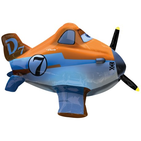 Disney Planes Dusty Aeroplay Remote Control Foil Balloon, 66x38 cm, 27802