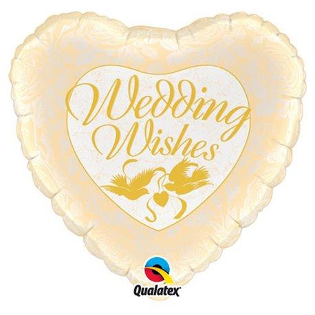 Folie 45 cm Wedding Wishes Doves & Roses