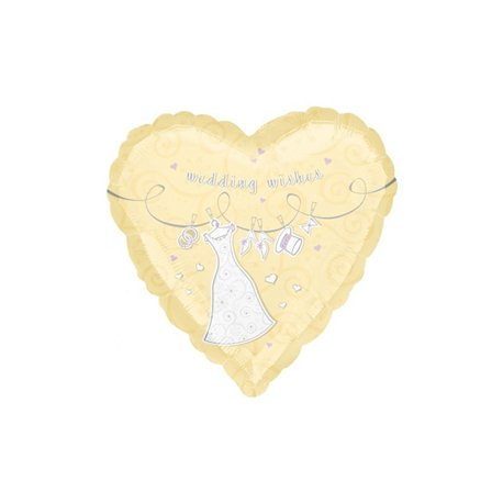 Balon Folie Wedding Wishes Swirls, Anagram, 45 cm, 16089