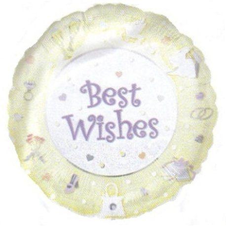 Balon Folie Best Wishes, Anagram, 45 cm, 09184
