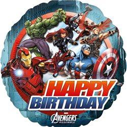 Balon Folie Avengers Happy Birthday, Anagram, 45 cm, 27083