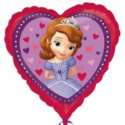 Sofia The First Love Heart Foil Balloon, Anagram,18'', 29840