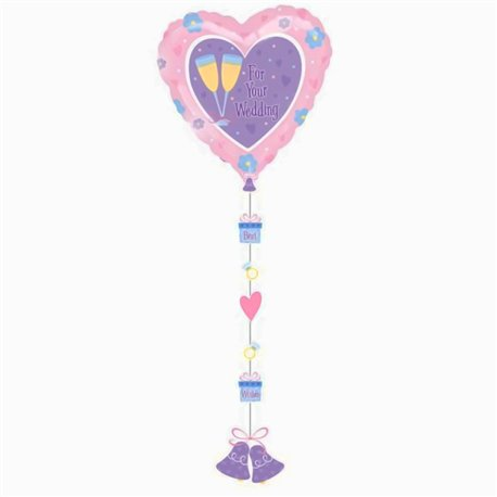 Balon Folie Drop a Line, 61 X 137 cm, 11277