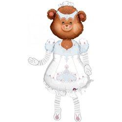 "Teddy Bride Airwalker Balloon, Anagram, 53"", 04935"