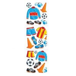 Stickere decorative cu echipament de fotbal pentru copii, Amscan 15666, Set 24 piese