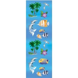 Stickere decorative cu vietuitoare marine pentru copii, Amscan 159808, Set 18 piese