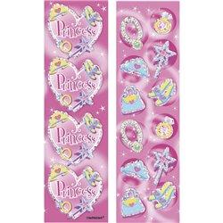 Stickere decorative pentru copii - Princess, Amscan 159945, Set 8 buc
