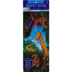 Pungute pentru cadouri copii la petreceri - Safari Party, Amscan 376501, Set 20 buc