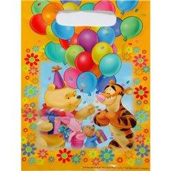 Pungute pentru cadouri copii la petreceri - Winnie the Pooh, Amscan 550842, Set 6 buc