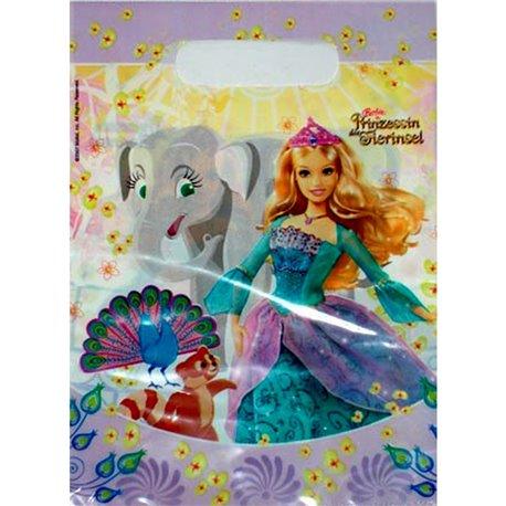 Pungute pentru cadouri copii la petreceri - Barbie, Amscan RM551167, Set 6 buc