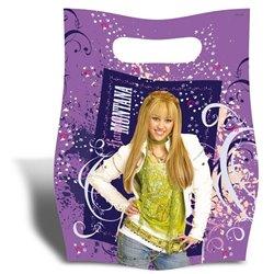 Pungute pentru cadouri copii la petreceri - Hannah Montana, Amscan RM551437, Set 6 buc