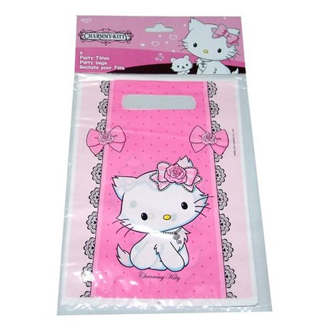 Charmmy Kitty Party Treat Bags Supplies Amscan Rm551731 Pack Of 6 Pieces