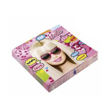 Totally Barbie Luncheon Napkins, 33 cm, Amscan RM551970, Pack of 20 pieces