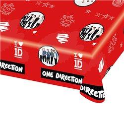 Fata de masa din plastic pentru petrecere copii - One Direction, 180 x 120 cm, Amscan 997831, 1 buc