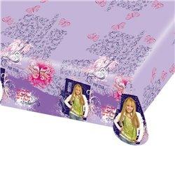 Fata de masa din plastic pentru petrecere copii - Hannah Montana, 180 x 120 cm, Amscan 551392, 1 buc
