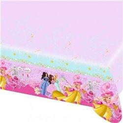 Fata de masa din plastic pentru petrecere copii - Barbie, 180 x 120 cm, Amscan RM551634, 1 buc