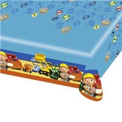 Fata de masa din plastic pentru petrecere copii - Bob the Builder, 180 x 120 cm, Amscan RM552197, 1 buc