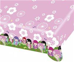 Fata de masa din plastic pentru petrecere copii - Kimmi Junior, 180 x 120 cm, Amscan RM552206, 1 buc