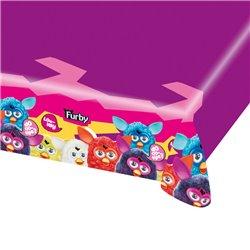 Fata de masa din plastic pentru petrecere copii - Furby, 180 x 120 cm, Amscan RM552459, 1 buc