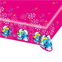 Fata de masa din plastic pentru petrecere copii - Smurfette, 180 x 120 cm, Amscan RM552501, 1 buc