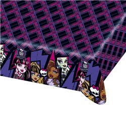 Fata de masa din plastic pentru petrecere copii - Monster High, 180 x 120 cm, Amscan RM552515, 1 buc