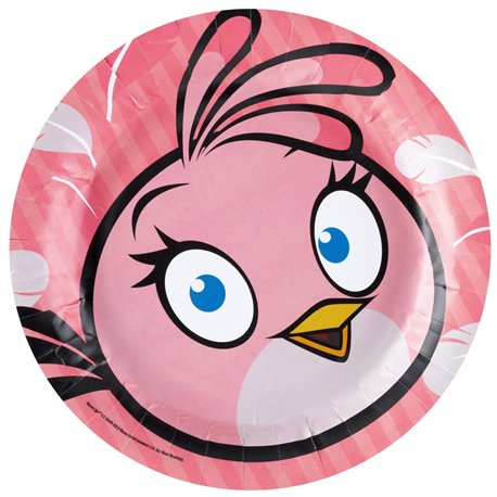 Angry Birds Pink Bird Paper Plates 18 cm Amscan RM552543 Pack of 8 Pieces  sc 1 st  Radar Party Center & Angry Birds Pink Bird Paper Plates 18 cm Amscan RM552543 Pack of 8 ...