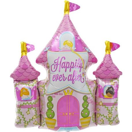 Happily Ever After Castle Helium Foil Balloon, 84 cm, 00796