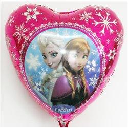Balon Folie Inima Frozen - Anna & Elsa, Anagram, 45 cm, 30402st