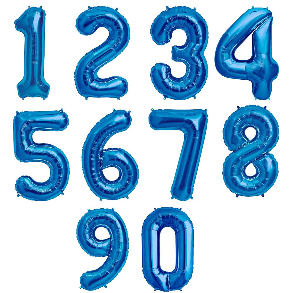 34 U0026quot   86 Cm Blue Number Shaped Foil Balloons  Northstar