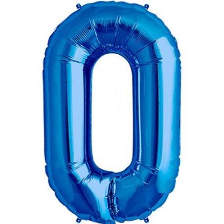 "Baloane Folie Mari cu Cifre 0-9 Blue, 86 cm / 34"", Northstar Balloons, 1 buc"