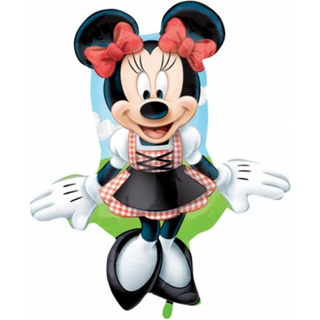 Foil Balloon Minnie Mouse in Dirndl, 75 cm, 27390ST