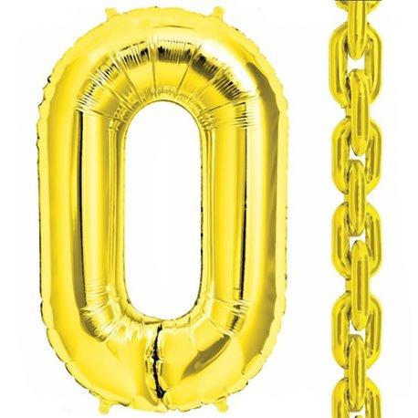 "Baloane Folie Aurii in forma de za, 86 cm / 34"", Northstar Balloons, 1 buc"