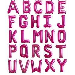 "16""/41 cm Magenta Letter Shaped Foil Balloons, Northstar Balloons, 1 piece"