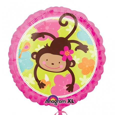 Monkey Love Foil Balloon, 45 cm, 113901