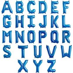 """16""""/41 cm Blue Letter Shaped Foil Balloons, Qualatex, 1 piece"""