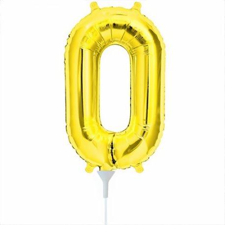 "Balon Folie cu Cifre 0-9 Auriu, 41 cm / 16"", Northstar Balloons, 1 buc"
