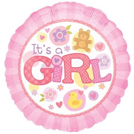 "It's a Girl Foil Balloon, Anagram, 18"", 15821"