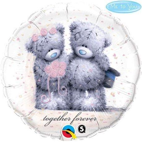Balon Folie Usulet Teddy Bear Forever Together, Qualatex, 45 cm, 20794