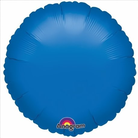 Balon Folie 45 cm Uni Rotund Albastru metalizat, Anagram 19887, 1 buc
