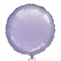Balon folie lila metalizat rotund - 45 cm, Anagram 21628-40, 1 buc