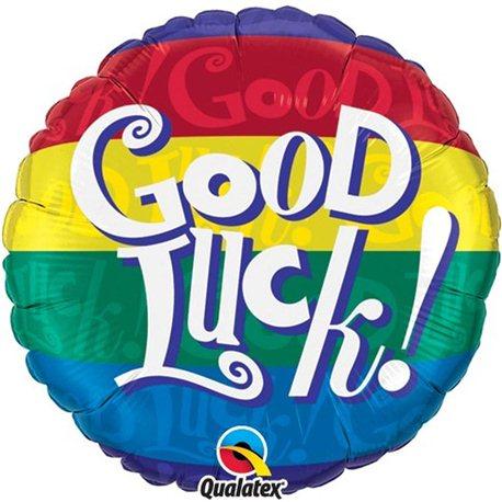 Balon Folie Good Luck! Multicolor, Qualatex, 45 cm, 38031